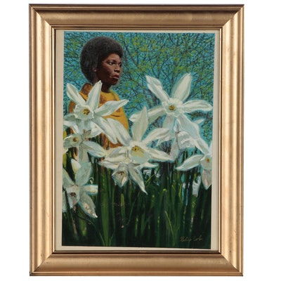 Felix Cole Gouache Illustration of African American Woman