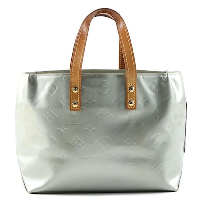Louis Vuitton Reade PM Tote in Monogram Vernis and Vachetta Leather