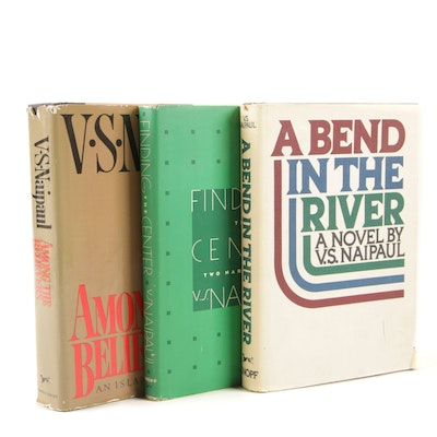 "First Edition V.S. Naipaul Books Including ""A Bend in the River"""
