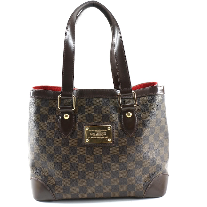 Louis Vuitton Hampstead PM Tote in Damier Canvas and Leather