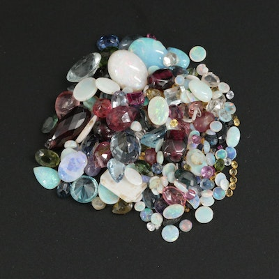 Loose 65.65 CTW Mixed Gemstones Including Tourmaline, Aquamarine and Sapphire