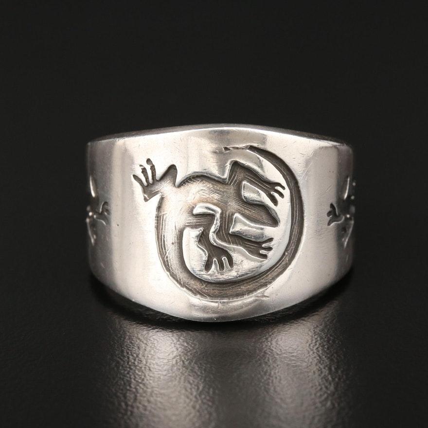 Sterling Silver Lizard Ring
