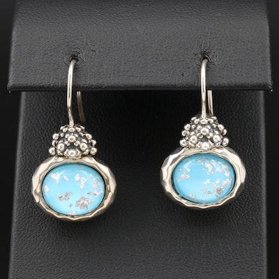 Michael Dawkins Sterling Silver Quartz Doublet Earrings