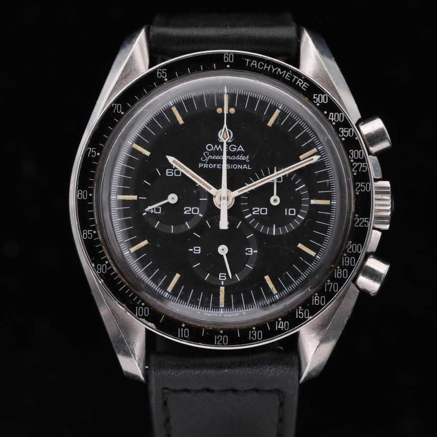 "Omega Speedmaster Pro ""Pre Moon"" Transitional Stainless Steel  Wristwatch"