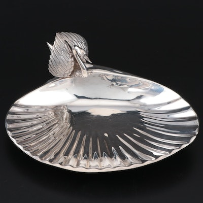 Cartier Sterling Silver Swan and Shell Centerpiece