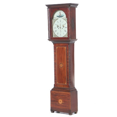 """G. Begg"" Scottish Mahogany and Marquetry Longcase Clock, Early 19th Century"