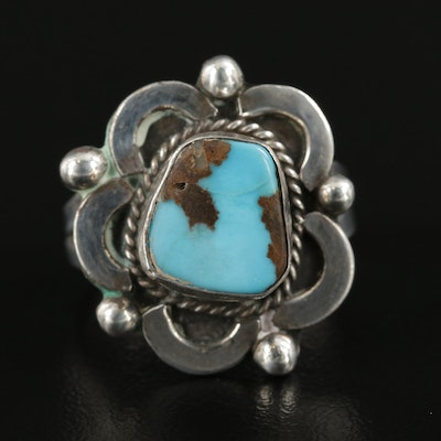 Mexican Sterling Silver Turquoise Ring
