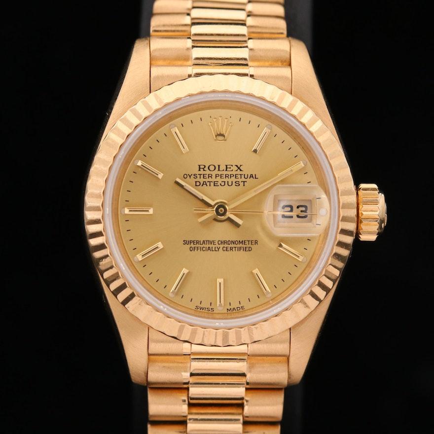 Rolex Datejust President 18K Gold Automatic Wristwatch,1997