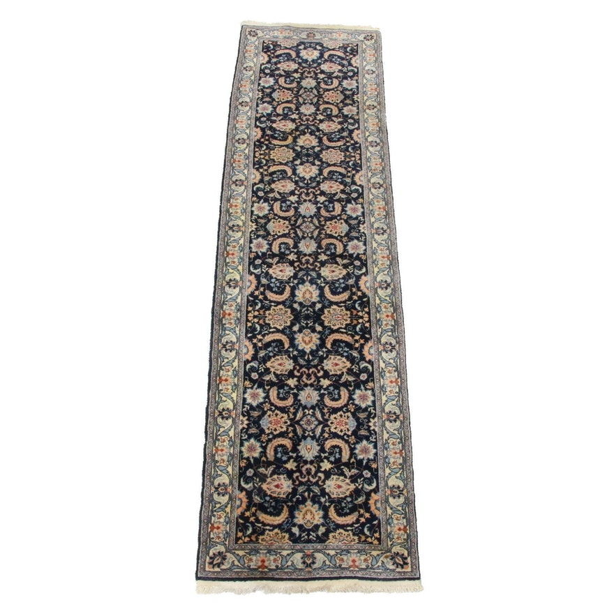 2'6 x 9'10 Hand-Knotted Romanian Persian Tabriz Rug Runner, 1990s