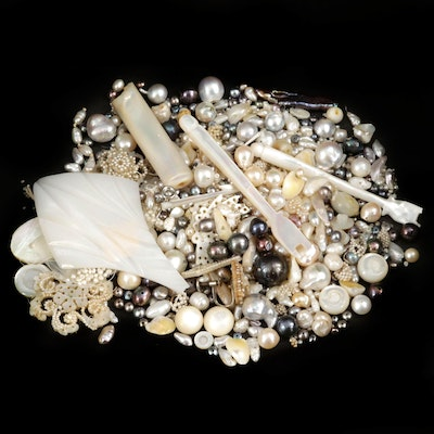 Loose Pearl and Mother of Pearl Gemstones