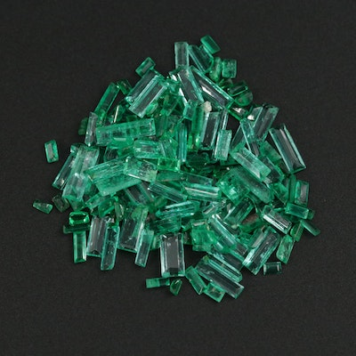Loose 14.99 CTW Emerald and Synthetic Emerald Gemstones