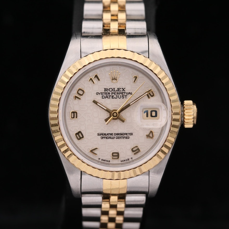 Rolex Datejust 18K Gold and Stainless Steel Automatic Wristwatch, 1993