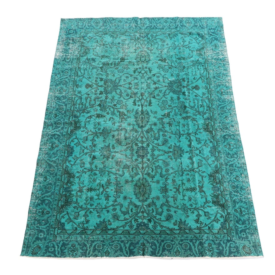 7'5 x 10'11 Hand-Knotted Turkish Overdyed Area Rug
