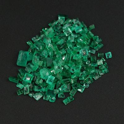 Loose 27.50 CTW Emerald & Synthetic Emerald Gemstones