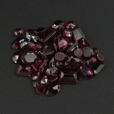 Loose 52.87 CTW Garnet Gemstones