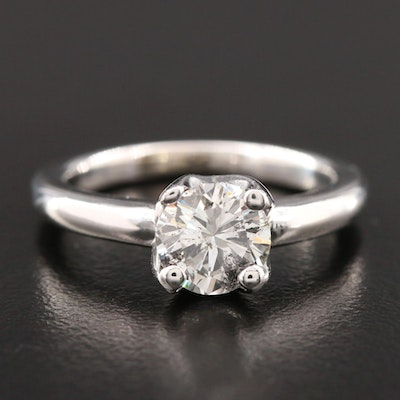 14K White Gold 1.35 CT Diamond Solitaire Ring
