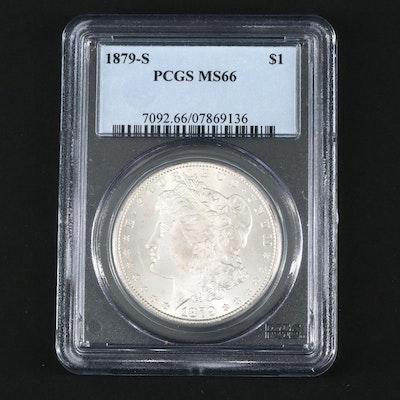 PCGS Graded MS66 1879-S Silver Morgan Dollar