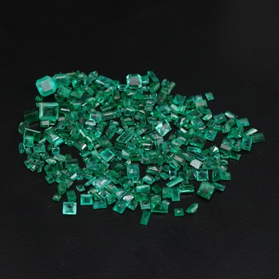 Loose 32.90 CTW Emerald and Synthetic Emerald Gemstones