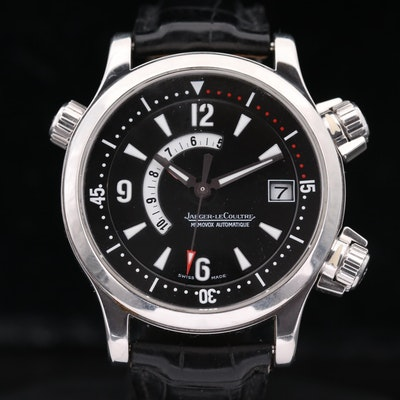 Jaeger-LeCoultre Master Compressor Memovex Stainless Steel Wristwatch