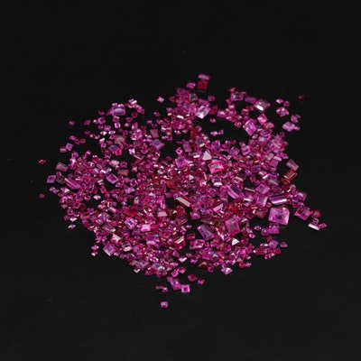 Loose 32.25 CTW Ruby and Synthetic Ruby Gemstones
