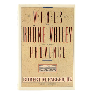 "Signed First Edition ""The Wines of the Rhône Valley and Provence"" by R. Parker"