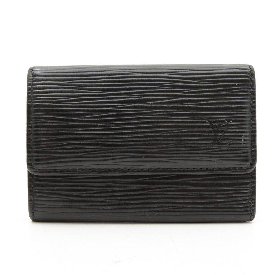 Louis Vuitton Black Epi Leather Key Wallet