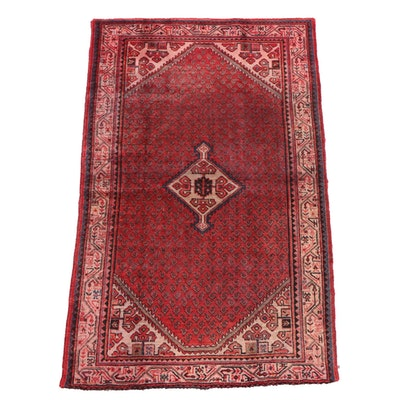 4'3 x 6'10 Hand-Knotted Persian Serabend Wool Rug