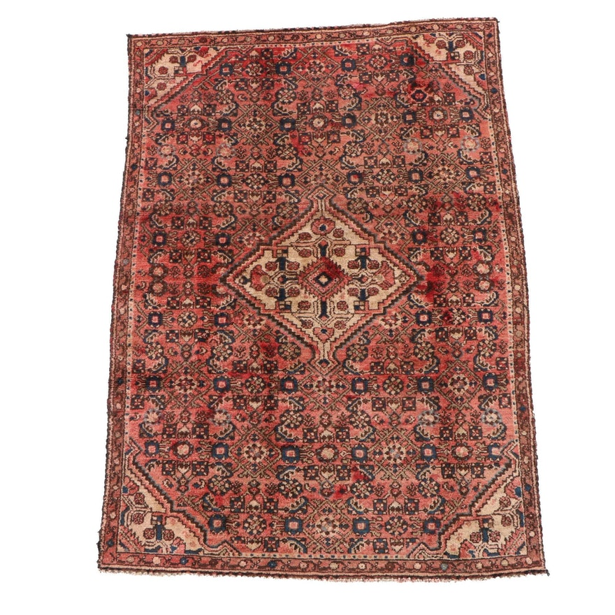 3'10 x 5'9 Hand-Knotted Persian Malayer Wool Rug