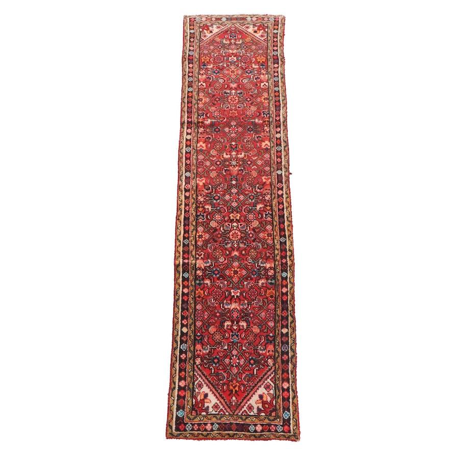 2'2 x 9'7 Hand-Knotted Persian Hamadan Wool Carpet Runner