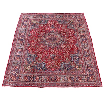 9'8 x 12'5 Hand-Knotted Persian Isfahan Wool Room Sized Rug