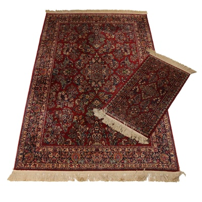 "Karastan ""Red Sarouk"" Machine Made Area and Accent Rugs"
