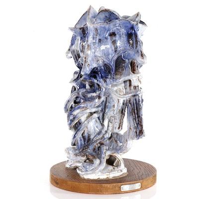 William Leizman Abstract Ceramic Sculpture