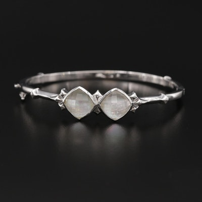 Stephen Webster Sterling Silver Mother of Pearl and Quartz Bracelet