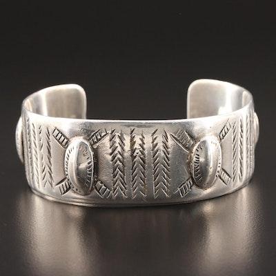 Egyptian 800 Silver Cuff Bracelet
