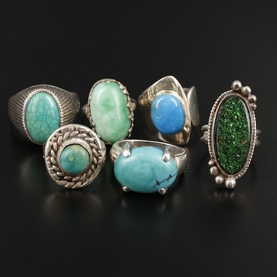 Silver Ring Assortment with Turquoise
