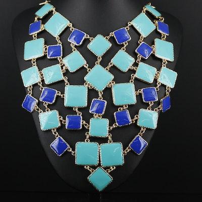 Amrita Singh Enamel Adjustable Bib Necklace