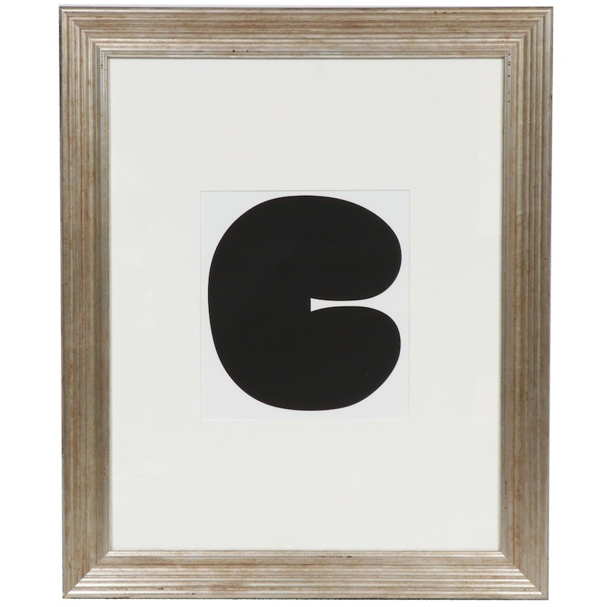 "Ellsworth Kelly Lithograph ""Black Form 1"" for ""Cahiers d'Art,"" 2012"
