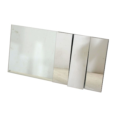Modernist Multi-Directional Paneled Wall Mirror