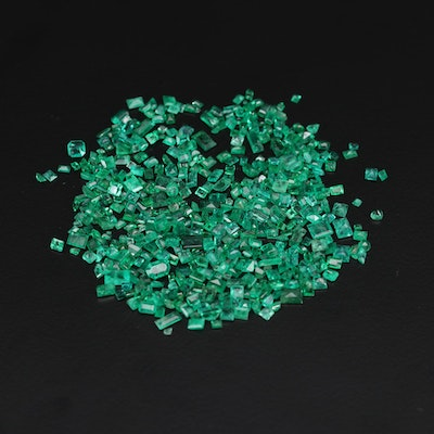 Loose 33.20 CTW Emerald and Synthetic Emerald Gemstones