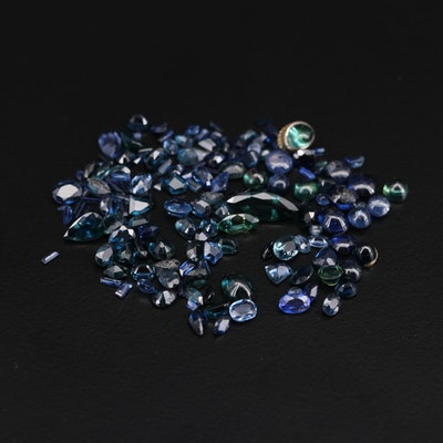 Loose 35.00 CTW Sapphire and Synthetic Sapphire Gemstones
