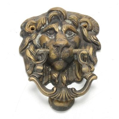 Lion's Head Brass Door Knocker