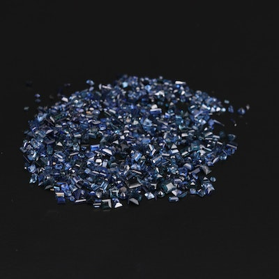 Loose 89.10 CTW Sapphire and Synthetic Sapphire Gemstones