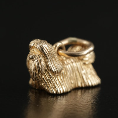 14K Yellow Gold Shih Tzu Charm