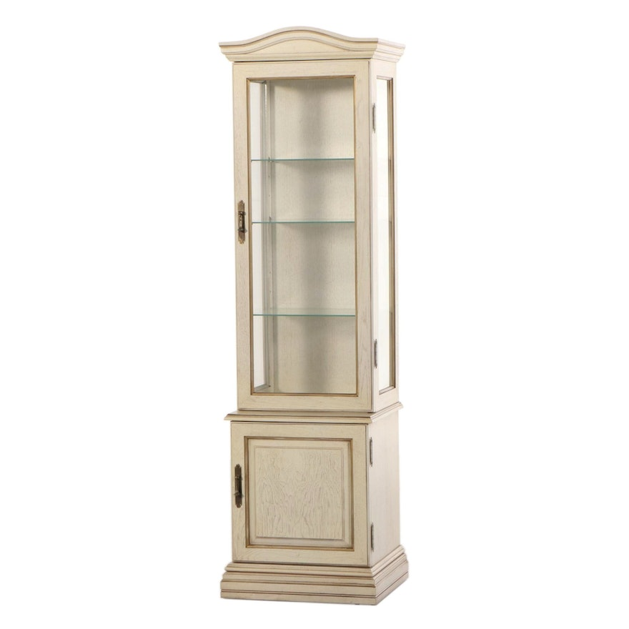 Cream-Painted and Parcel-Gilt Display Cabinet, Second Half 20th Century