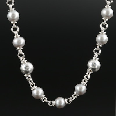 Michael Dawkins Sterling Silver and Pearl Necklace