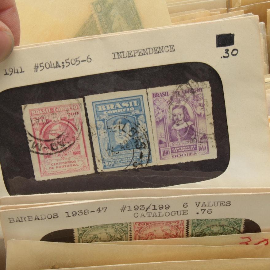 International Postage Stamp Collection Ebth