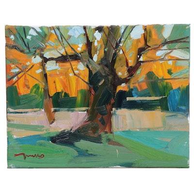 "Jose Trujillo Oil Painting ""Shady Oak"""