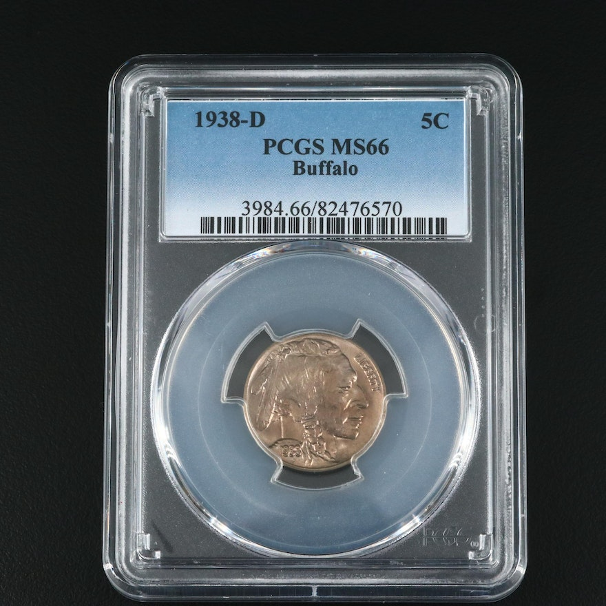 PCGS Graded 1938-D Buffalo Nickel