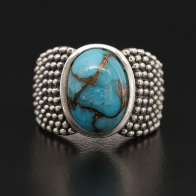 Michael Dawkins Sterling Silver Turquoise Ring