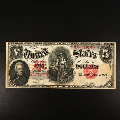 Series of 1907 $5 Red Seal Legal Tender Note